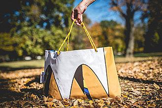 Veľké tašky - Úsmev ako dar - DORKA bag (Maľovaný abstrakt) - 10212431_