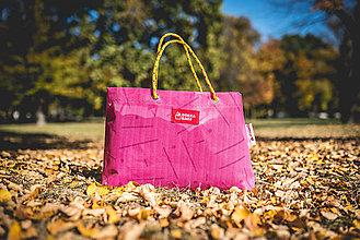 Veľké tašky - Úsmev ako dar - DORKA bag (Ružové mikádo) - 10212450_