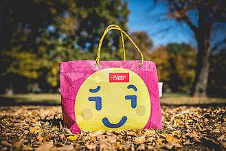 Veľké tašky - Úsmev ako dar - DORKA bag (Žltý smajlík) - 10212454_