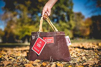 Veľké tašky - Úsmev ako dar - DORKA bag mini (Mini kávová) - 10212460_