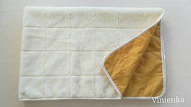 Úžitkový textil - Deka 100% ovčie rúno MERINO ELEGANT horčicová MUSTARD - 10215577_