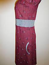 Šaty - Bordové s šedou - 10215016_