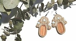 Béžová elegancia - soutache earring