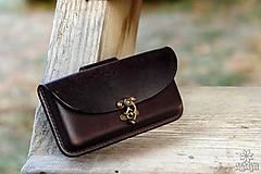 Na mobil - Kožená kapsa na opasok - hrúbka 1,4 cm - 10213066_