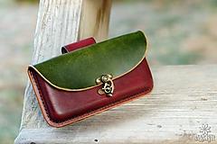 Na mobil - Kožená kapsa na opasok - hrúbka 1,4 cm - 10213149_