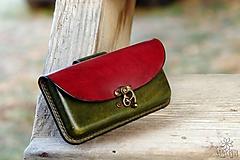 Na mobil - Kožená kapsa na opasok - hrúbka 1,4 cm - 10213157_