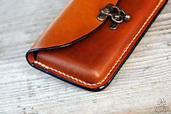 Na mobil - Kožená kapsa na opasok - hrúbka 1 cm - 10213185_