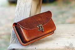 Na mobil - Kožená kapsa na opasok - hrúbka 2,8 cm. Rôzne farby. - 10213261_