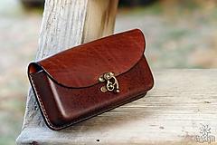 Na mobil - Kožená kapsa na opasok - hrúbka 2,8 cm. Rôzne farby. - 10213267_