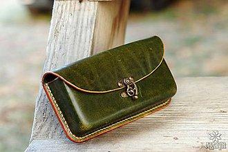 Na mobil - Kožená kapsa na opasok, na telefón, hrubšia - 10213262_
