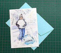 Papiernictvo - Pohľadnica - Vianočná radosť - 10215623_