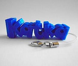 Kľúčenky - 3D prívesok s vlastným menom - 10213768_