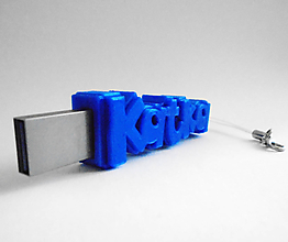 Drobnosti - USB kľúč s menom - jednofarebný (8 GB 2.0  Modrá) - 10214089_