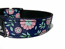 Pre zvieratká - Obojok Pink Flowers - 10216321_