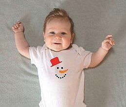 Detské oblečenie - snehuliak - 10213586_