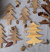 Dekorácie - sada 3ks/ stromčeky - 10216100_