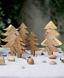 Dekorácie - sada 5ks/ stromčeky - 10216069_