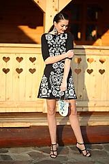 Šaty - Zľava - 30%Čierne vyšívané šaty Slavianka - 10213413_