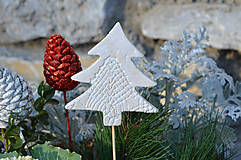 Dekorácie - Stromek bílý....zápich do květináče - 10214914_