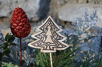 Dekorácie - Stromeček....zápich do květináče - 10214872_