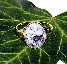 Prstene - ZLATÝ prsten dendritický OPÁL Turecko - 10213203_