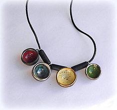 Náhrdelníky - Keramický šperk - Mištičkový, pestrý - 10212894_