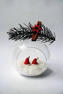Náušnice - Vianočné náušnice - Mikulášska čiapka   visiace   veľké - 10215946_