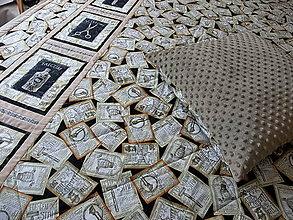 Úžitkový textil - Minky deka pre mužov II. - 10212872_