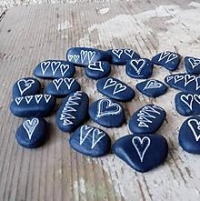 Drobnosti - Drobná modrá láska - Na kameni maľované - 10212995_