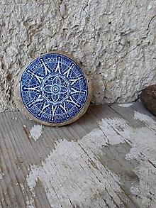 Dekorácie - Ako modrotlač - Na kameni maľované - 10213128_