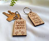 Kľúčenky - Kľúčenka - domček - 10213569_
