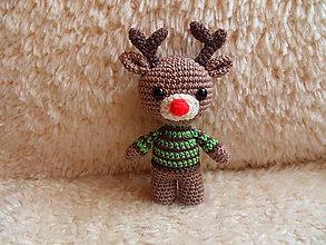 Hračky - Milý háčkovaný sobík Rudolf :-) - 10215266_