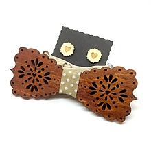 Doplnky - Motýlik Medový kvet - hnedá - 10212943_