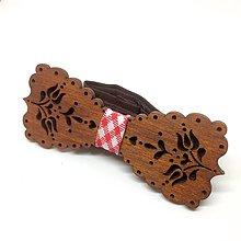 Doplnky - Motýlik Tulipán - červený  (Červená) - 10213088_