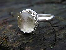 Prstene - Strieborny prsteň Ag925 Sagenit - 10213966_