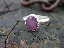 Prstene - Strieborný prsteň Ag925 Rubín - 10214003_