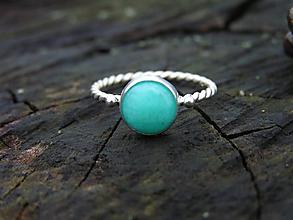Prstene - Strieborný prsteň Ag925 Amazonit - 10213932_