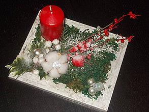 Dekorácie - Vianočný svietnik - 10213816_