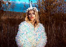 Ozdoby do vlasov - Kvetinový venček Jednorožec Halloween - 10216445_