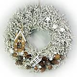 Dekorácie - Vianočný veniec -Vánoční věnec - Krajinka - 10215562_