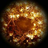 Dekorácie - Vianočný veniec -Vánoční věnec - Krajinka - 10215564_