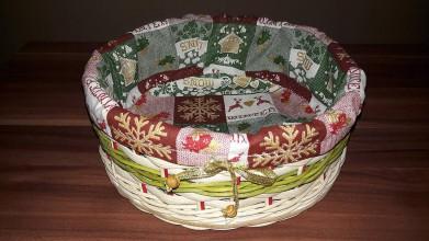 Košíky - Vianočný košík - 10212472_