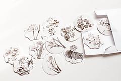 Papier - Samolepka set Botanical