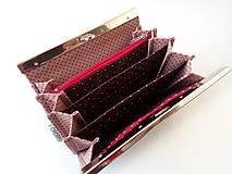 Peňaženky - Peňaženka s priehradkami Mačky - 10212671_