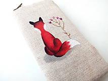 Na mobil - Obal na mobil Líška s kvetom - 10213803_