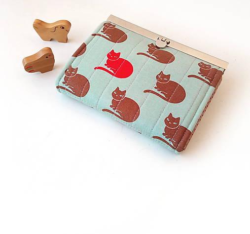 Peňaženka s priehradkami Mačky