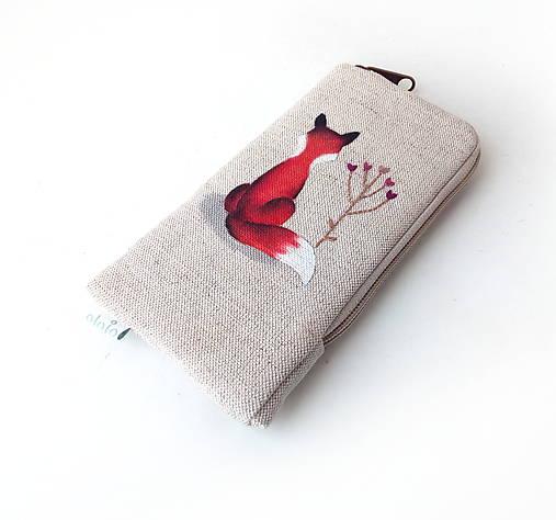 Obal na mobil Líška s kvetom