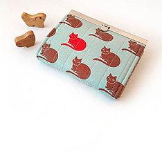 Peňaženky - Peňaženka s priehradkami Mačky - 10212667_