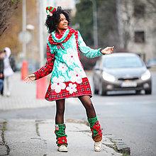 Šaty - Origo mikino šaty ňuňu kvety mixoš - 10215727_