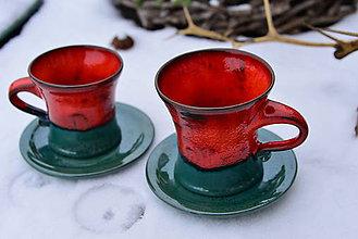 Nádoby - Vianočný čas (červeno-zelené) - 10212607_
